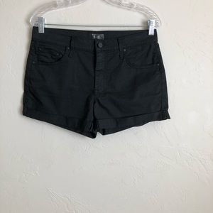 Mother Black The Dropout Cuff Shorts